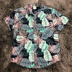 Manguun | Kids Leafy Button Down Shirt | Size 9-10
